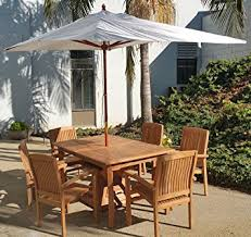 Sunbrella Patio Umbrellas Amazon by Amazon Com New Wooden 10 Ft Rectangle Sunbrella Fabric Any Color