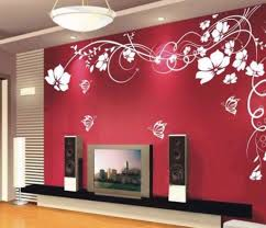 Wall Paint Designs For Living Room Trends Also Stencils Pictures Design Ideas