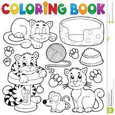 Royalty Free Vector Download Coloring Book Cat