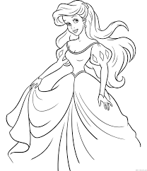 Ariel The Little Mermaid Coloring Pages For Girls To Print Free