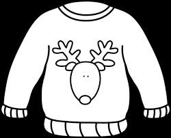 Black and White Reindeer Sweater