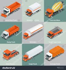 Cargo Truck Set Icons Flat 3d Stock Vector 334356275 - Shutterstock
