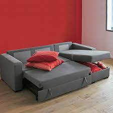 coffre canapé meubles design canape convertible gris en tissu clic clac lit