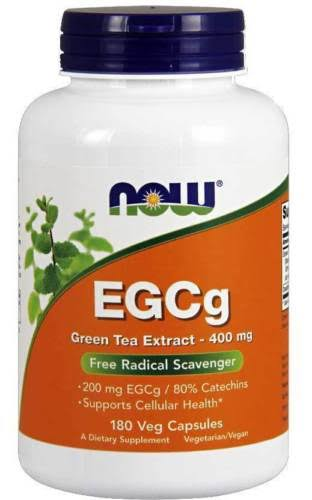 Now Foods EGCg Green Tea Extract Supplement - 400mg, 180 Veg Capsules