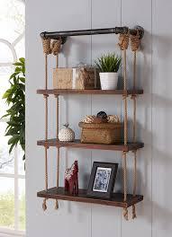 Modern Walnut Wood Floating Wall Shelf & Reviews