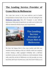 The Leading Service Provider Of Crane Hire In Melbourne By ... Ming Spec Vehicles Budget Truck Rental Melbourne Hire Trucks Vans Utes Dry Crane Wet Services At Orix Commercial Sandblasting Paint Removal From Pro Blast A Tesla Thrifty Car And Gofields Victoria Australia Crane Truck Hire Home Facebook Why Van Service Is So Fast In Move In Town Cstruction Moving Fleetspec Jtc Transport Fast Online Directory Tip Truck Hire Melbourne By Jesswilliam Issuu