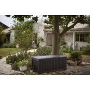 keter rockwood outdoor plastic deck box all weather resin storage