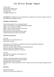 Class A Driver Resume Sample