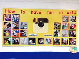 Instagram Art Bulletin Board Room Work Display