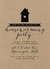 Kraft Housewarming Party Invitation Rustic Shabby Chic Silhouette Calligraphy