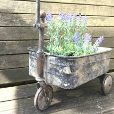 Patio Plant Stand Uk by Antique Vintage Style Metal Garden Cart Trolley Plant Stand Garden