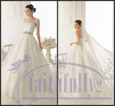 discount simple a line strapless wedding dresses taffeta ball