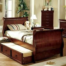 furniture of america louis philippe jr kids sleigh bed with