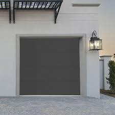 porte de garage sectionnelle lisse grise porte sectionnelle standard