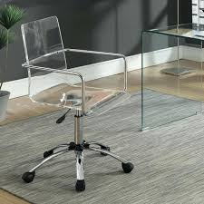 Acrylic Desk Chair On Casters by Coaster Office Chair Yorkville U2013 Realtimerace Com