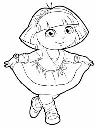 Charming Ideas Dora Coloring Pages Lots Of And Printables
