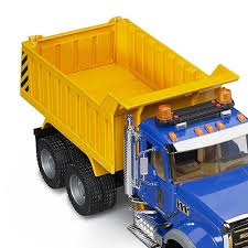 Bruder Toys Mack Granite 1:16 Play Snow Plow Dump Truck With Front ...