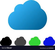 100 Flat Cloud Flat Gradient Icon