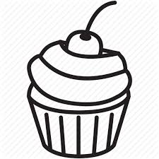 cherry cupcake delicious frosting sweet taste icon