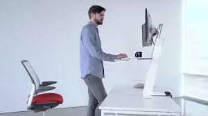 Humanscale Standing Desk Converter by Humanscale Quickstand Workstation Ergonomio Youtube