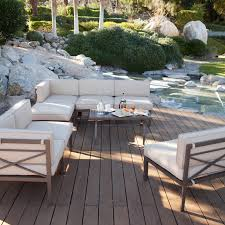 Outdoor Sectional Sofa Set by Coral Coast Bellagio 10 Pc Aluminum Sectional Sofa Set Seats 8