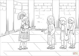 Click The When Jesus Had Entered Capernaum A Centurion Came To Him Asking For Help Coloring Pages