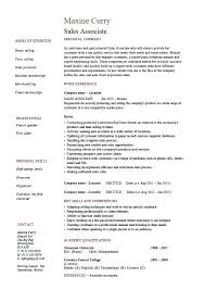 Resume Sales Examples Associate Retail Manager 2017
