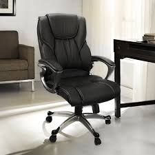 Barton Executive Office Chair With Padded Armrest Faux Leather Soft Back Support HighBack Computer Desk Chair Black