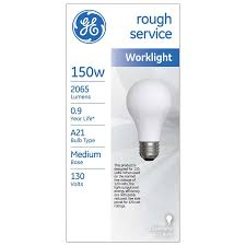 shop ge 150 watt indoor dimmable soft white a21 incandescent