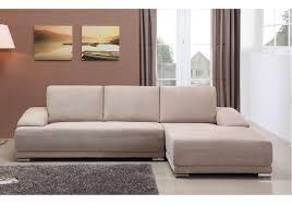 canapé d angle pas cher en tissu velours beige kent