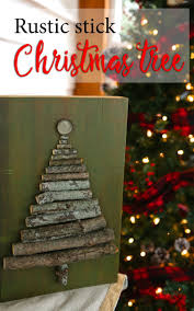 DIY Rustic Stick Christmas Tree