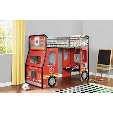 100 Fire Truck Loft Bed DHP Imagination Junior RedBlack Amazonca