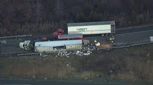 100 Truck N Stuff Washington Pa Overturns Spills Vodka Bottles On Ramp To I95 6abccom