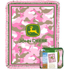 Pink John Deere Bedroom Decor by John Deere Throw Kit Pink Camo Walmart Com