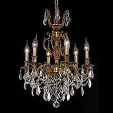 Marseille 20 Wide French Gold 6 Light Chandelier