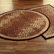Round Leopard Print Rug Foter