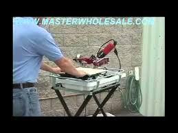 Mk270 Tile Saw Manual by Mk 770 Tile Saw Demonstration Video Youtube