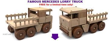 free mercedes lorry truck wood toy plan set wooden toys