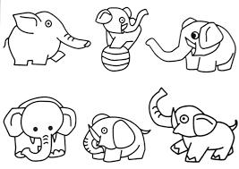 Jungle Safari Animal Coloring Pages Printable Animals Easy Book