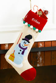 Frosty Snowman White Christmas Tree by Snowman Personalized Christmas Stocking Red Velvet Corduroy