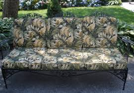 Vintage Wrought Iron Patio Furniture Cushions by Wrought Iron Sofa Couch Woodard Grapes Leaves Tropical