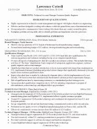 Qa Engineer Sample Resume For A Technical Account Manager Susan Ireland Resumes
