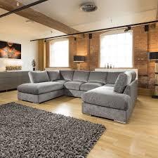 Quatropi Large Corner Sofa Group U Shaped Grey 33 X 21m BEL1990