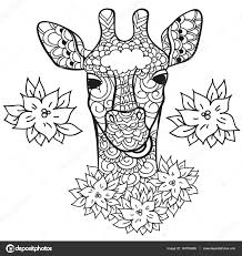 Coloring Page Anti Stress For Adults And Children Animals