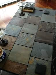 slate tile dining room table author coffee one day patio set