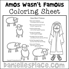 Amos Wasnt Famous Coloring Sheet With Poem For Sunday School From Daniellesplace