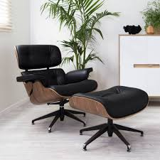 Choosing The Best Leather And Wood Veneers For The Eames ... Eames Lounge Chair Ottoman Replica Aptdeco Black Leather 4 Star And 300 Herman Miller Is It Any Good Fniture Modern And Comfort Style Pu Walnut Wood 670 Vitra Replica Diiiz Details About Palisander Reproduction Set