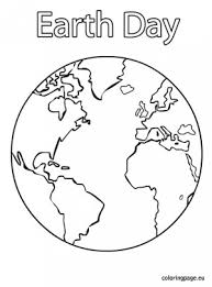 Earth Coloring Pages Free Of Kids Day