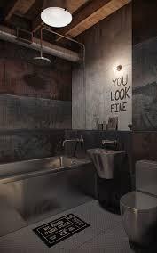 industrial loft grunge bathroom architecture interiors