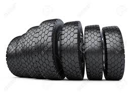 100 Truck Tires And Wheels Row Of Big Vehicle New Car 3d Illustration